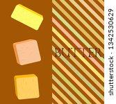 vector yellow stick of butter.... | Shutterstock .eps vector #1342530629