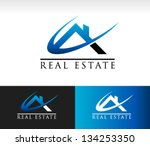real estate house roof logo icon | Shutterstock .eps vector #134253350