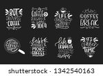 set of 8 coffee lettering... | Shutterstock .eps vector #1342540163