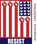 resist flag illustration | Shutterstock . vector #1342547816