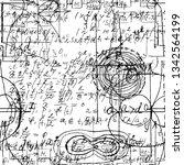 math seamless pattern endless... | Shutterstock .eps vector #1342564199
