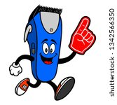 electrical hair clipper mascot... | Shutterstock .eps vector #1342566350