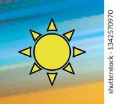 sun mono color icon. simple...