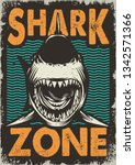 vintage dangerous zone for...   Shutterstock .eps vector #1342571366