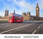 london   dec 21  iconic london... | Shutterstock . vector #134257640