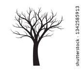 black naked tree white... | Shutterstock .eps vector #1342585913