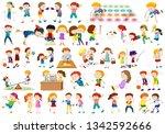 set of people doing acivites | Shutterstock .eps vector #1342592666