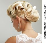 beautiful bride with fashion... | Shutterstock . vector #134259434