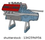 automotive industrial engine... | Shutterstock .eps vector #1342596956