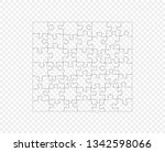 puzzle  mosaic dark outline.... | Shutterstock .eps vector #1342598066