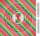 hourglass icon inside christmas ...   Shutterstock .eps vector #1342602350
