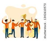winner business and achievement ... | Shutterstock .eps vector #1342610573