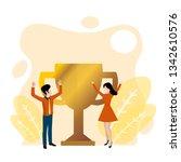 winner business and achievement ... | Shutterstock .eps vector #1342610576