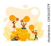 business idea concept.people... | Shutterstock .eps vector #1342610579