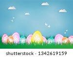 easter poster. easter theme... | Shutterstock .eps vector #1342619159