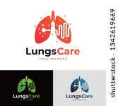 lungs care logo | Shutterstock .eps vector #1342619669