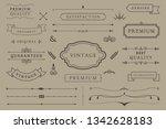 vintage premium label... | Shutterstock .eps vector #1342628183