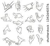 a set of vector cartoon...   Shutterstock .eps vector #1342640576
