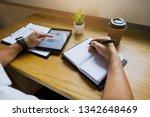 businessman using tablet to... | Shutterstock . vector #1342648469