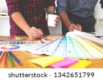 graphic designers choose colors ... | Shutterstock . vector #1342651799