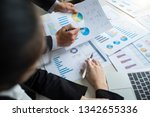 business team present... | Shutterstock . vector #1342655336