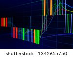 stock exchange market graph on... | Shutterstock . vector #1342655750
