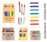 Crayon Packs  Vector Set