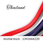 waving flag of thailand on... | Shutterstock .eps vector #1342666220