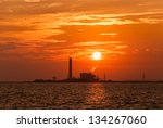 silhouette of electrical power...   Shutterstock . vector #134267060