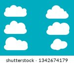 set of cloud vector icons in...