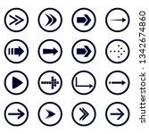 direction arrows vector...   Shutterstock .eps vector #1342674860