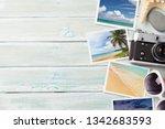 travel vacation background... | Shutterstock . vector #1342683593