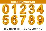 gold numerals set . golden... | Shutterstock . vector #1342689446