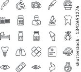 thin line icon set   disabled... | Shutterstock .eps vector #1342691276