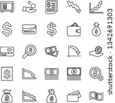 thin line icon set   credit... | Shutterstock .eps vector #1342691303