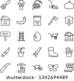 thin line icon set   flower in... | Shutterstock .eps vector #1342694489