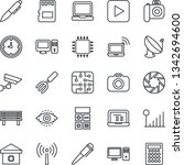thin line icon set   antenna... | Shutterstock .eps vector #1342694600