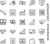 thin line icon set   credit... | Shutterstock .eps vector #1342694639