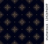 navy blue background ditzy... | Shutterstock .eps vector #1342696049