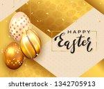 black lettering happy easter...   Shutterstock .eps vector #1342705913