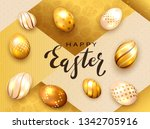 black lettering happy easter... | Shutterstock .eps vector #1342705916