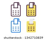 four style ticket icon   Shutterstock .eps vector #1342710839