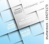 light blue square background... | Shutterstock .eps vector #134271173