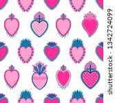 seamless pattern sacred mexican ...   Shutterstock .eps vector #1342724099