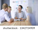 young people studying with...   Shutterstock . vector #1342724909