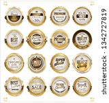 luxury premium golden badges... | Shutterstock .eps vector #1342727819