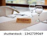 """reserviert"" means ""reserved""...   Shutterstock . vector #1342739069"