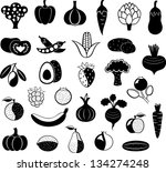 vector set of abstract black... | Shutterstock .eps vector #134274248