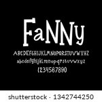 vector font. cheerful and child ... | Shutterstock .eps vector #1342744250