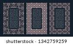 eastern frames. arabic vector... | Shutterstock .eps vector #1342759259